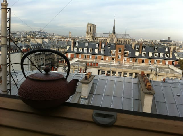 20 m2  AMAZING VIEW upon Notre Dame - Paris - Apartamento