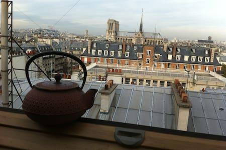 20 m2  AMAZING VIEW upon Notre Dame - París - Departamento