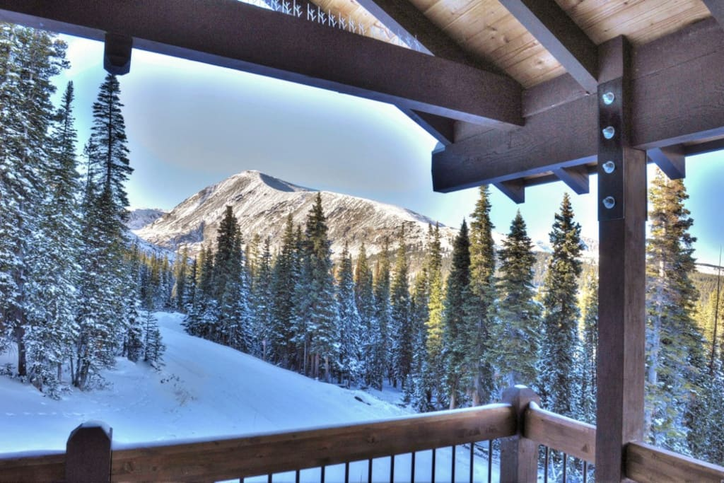 Take in breathtaking views of Quandary Peak from the private balcony.