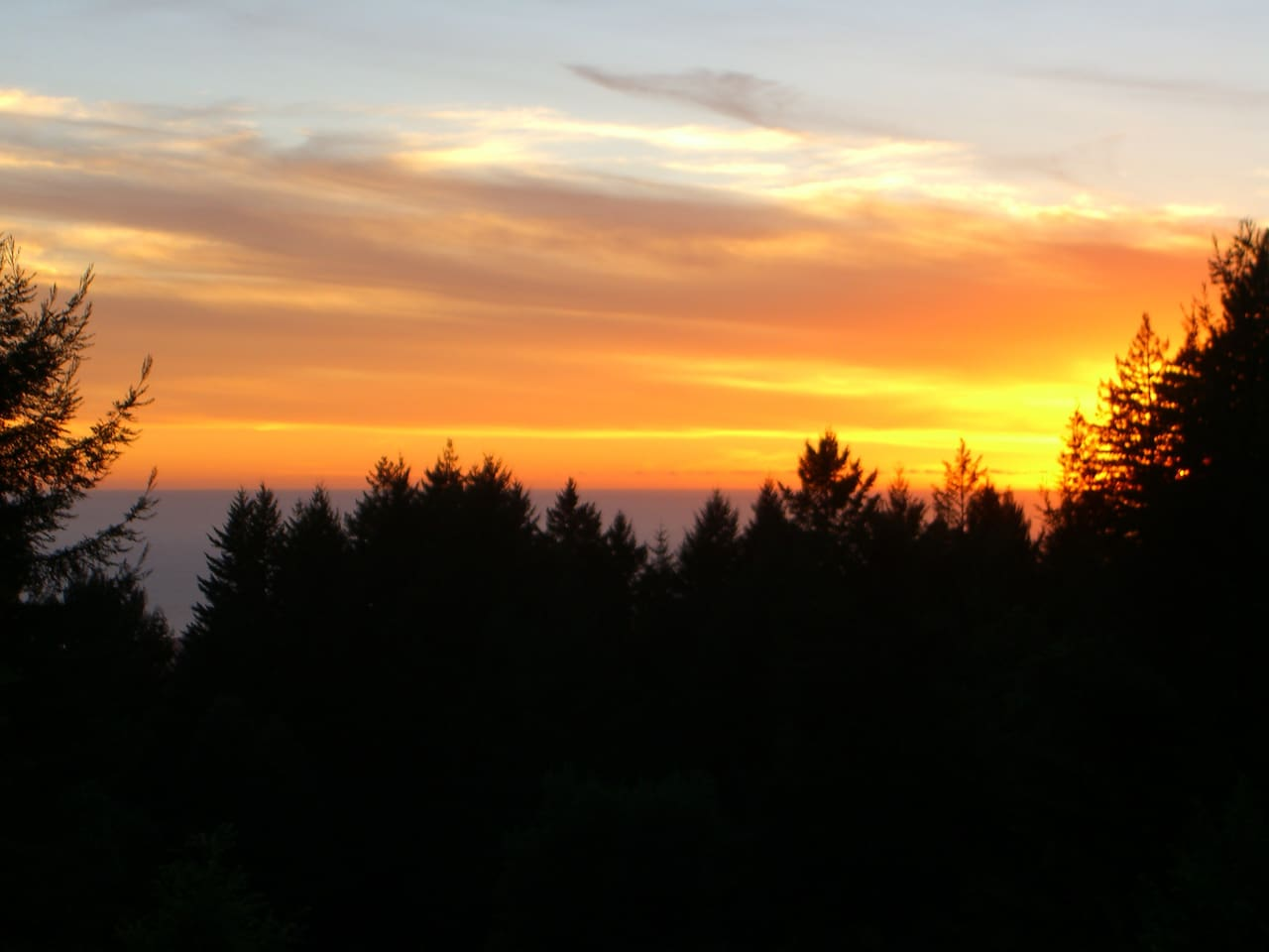 Winter sunset from Guest Room No. 1 (w/ queen bed)