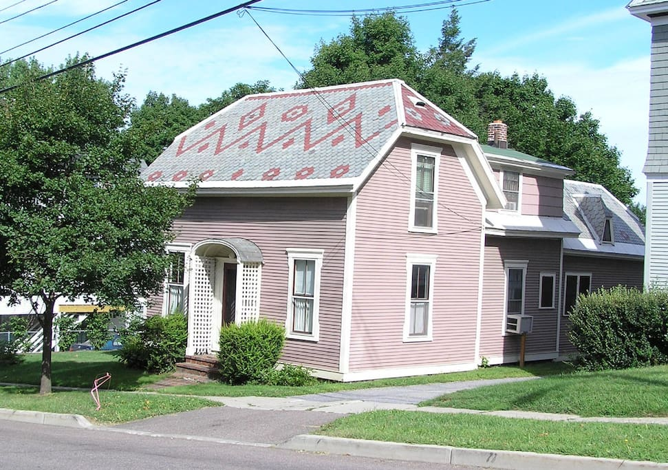 House located near the street