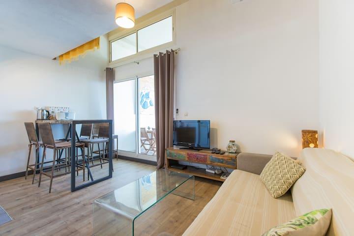 Troudo - Appartement à 3 minutes à pied du lagon