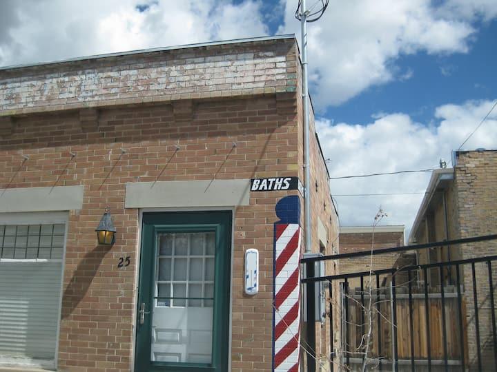 Sleep in Utah's last pioneer bathhouse. Private.