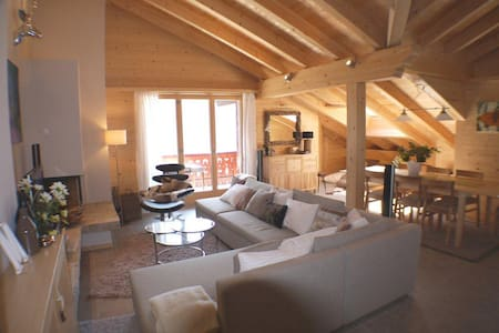 Luxurious ski loft in Switzerland - Champéry