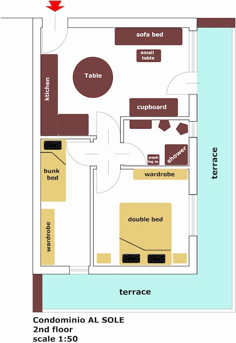 the Map of the flat