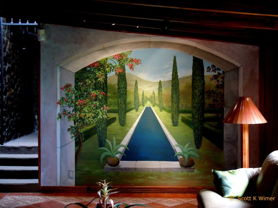 Wall mural by artist, Scott K. Wimer.