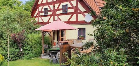 Maison à colombages restaurée à partir de 1708