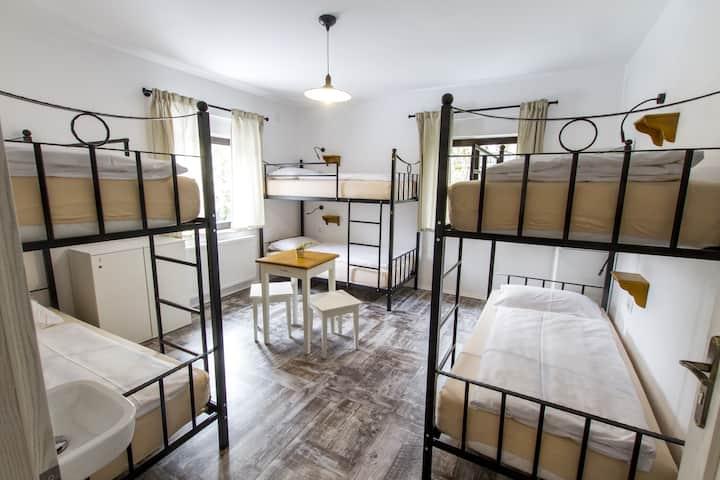 6 bunk bedroom in Hostel Hildegarden