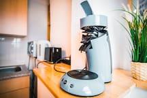Kaffeemaschine mit Pads ist für euch da :)
