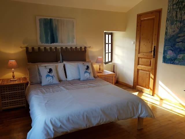 The main bedroom with large walk-in wardrobe.