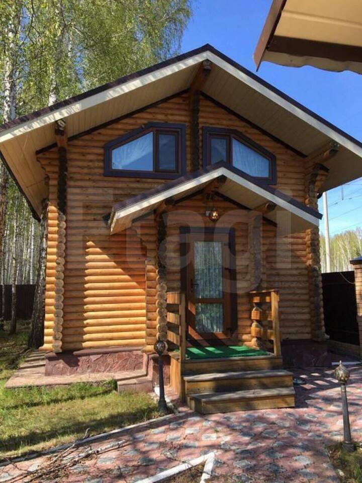 Дом мечты с баней, лесом и зоной для барбекю