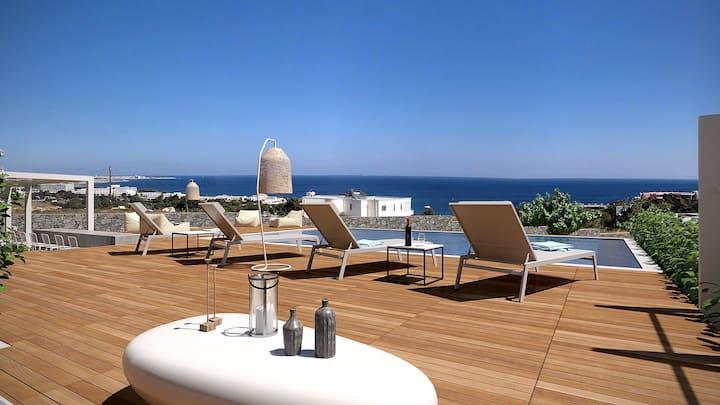 Thea Sunrise Luxury Villa with Heated Eco Pool
