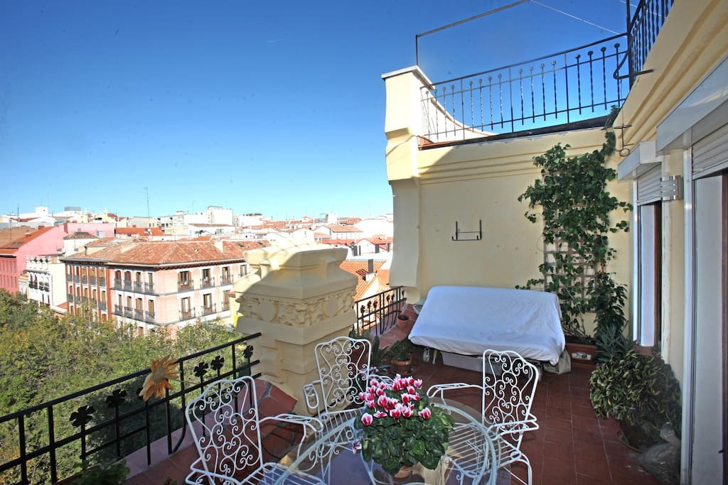 Penthouse terrace the city center appartements louer - The penthouse madrid ...