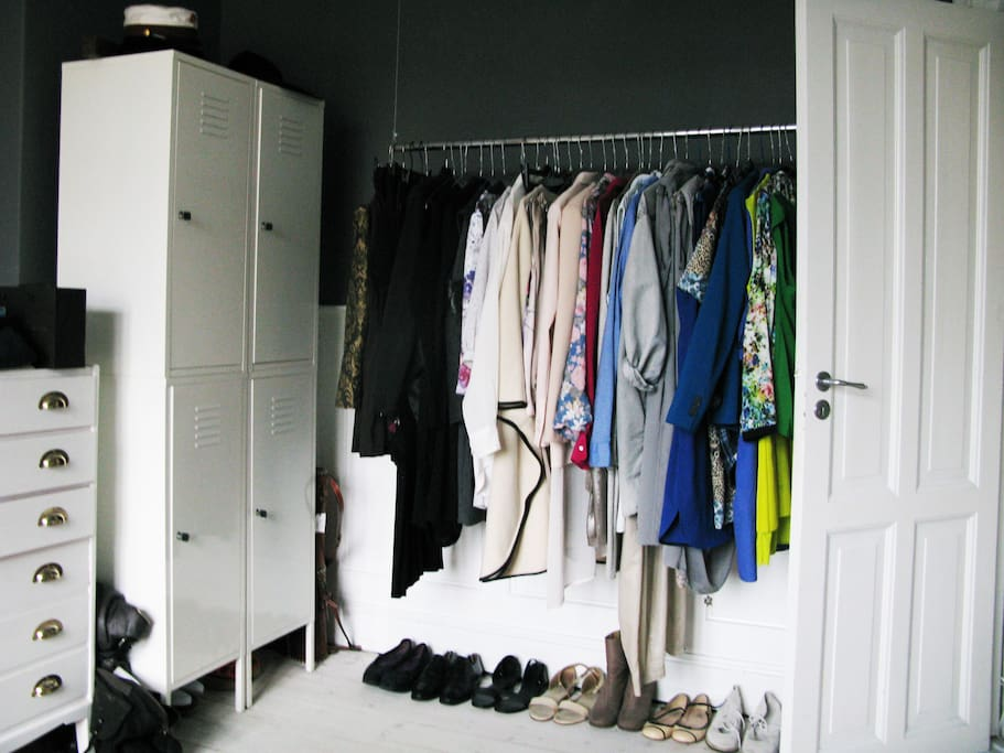 The wardrobe in the bedroom