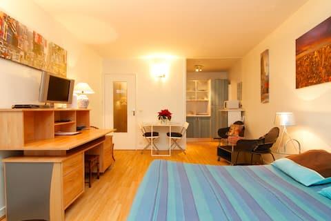 Spacious studio apartment in Bastille/Marais, Place des Vosges