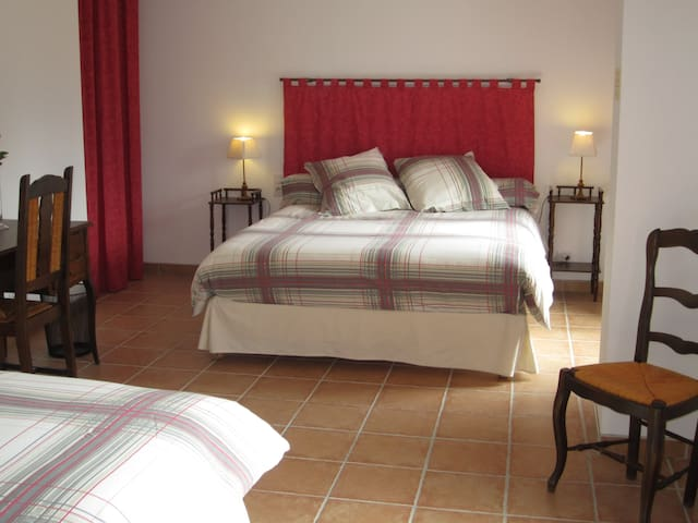 Bedroom near Touraine or Sologne - Vicq-sur-Nahon - Bed & Breakfast