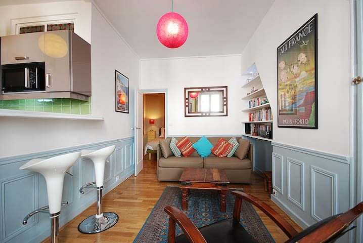 Notre Dame Latin Quarter: 1BR Flat, Central Paris