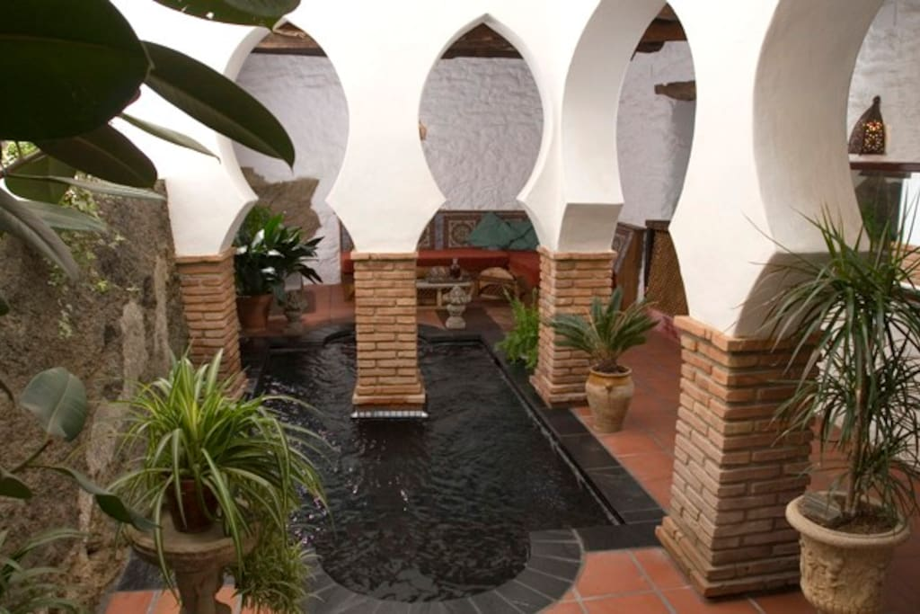 'hammam' about 70cm. deep - wonderful in the hot summers