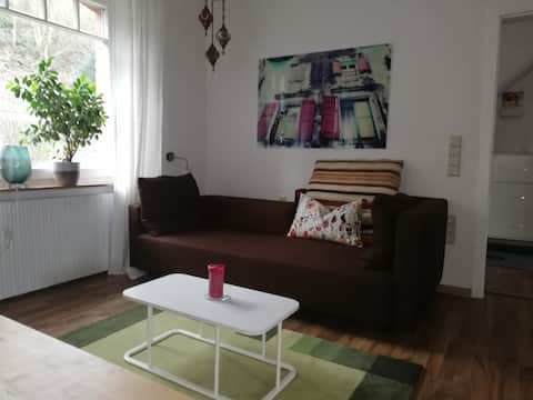 Bright apartment in townhouse for 4 people