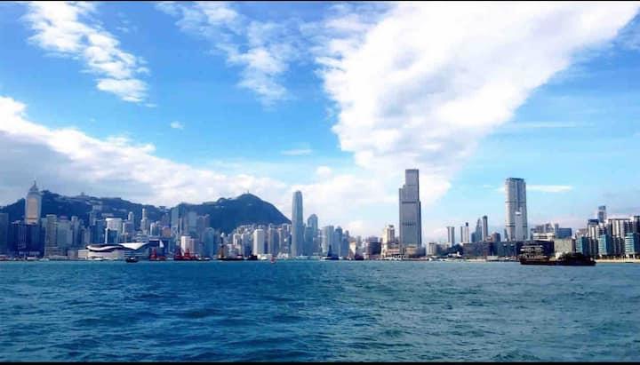 香港最中心地段维多利亚大户型海景房,毗邻红磡演唱会体育馆,香港理工大学,星光大道,尖沙咀海港城