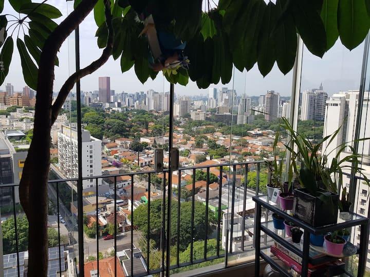 Penthouse Wohnung mit Blick auf Sao Paulo.