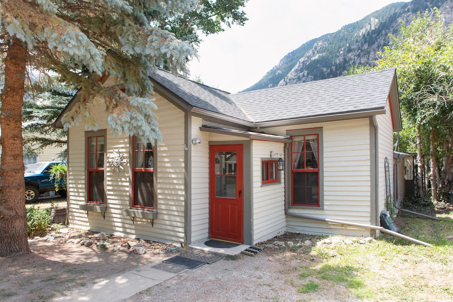 Historic Home built in 1875.  Remodeled with a contemporary decor.   Living space all on one floor!