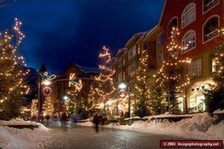 The holidays in the heart of Whistler village. - Whistler