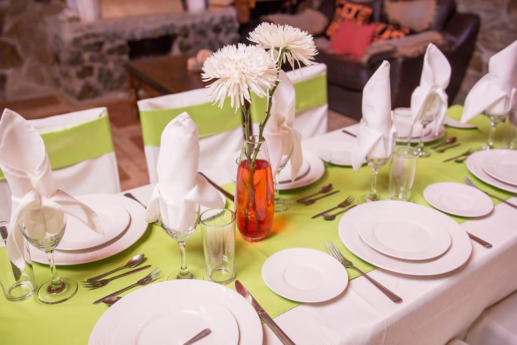 servicio de Eventos y salón restaurant