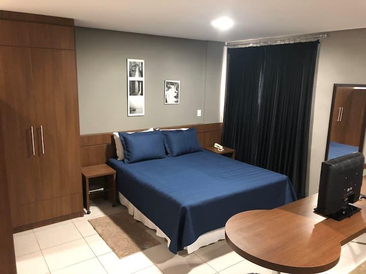 Conforto de hotel e acolhimento familiar!