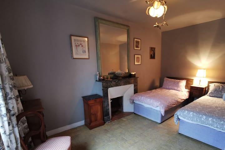 Bed & Breakfast in Le Perche - Green mirror room