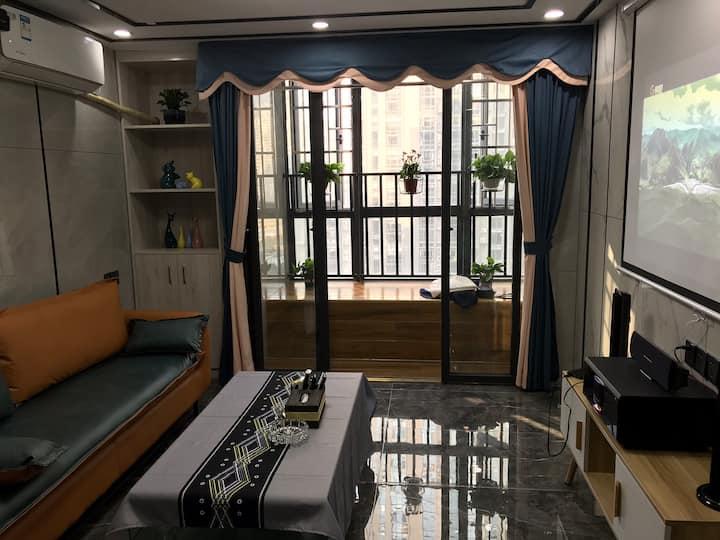 多多公寓民宿!近敏捷广场七星岩景区 益华广场,第一人民医院。楼下公交站!
