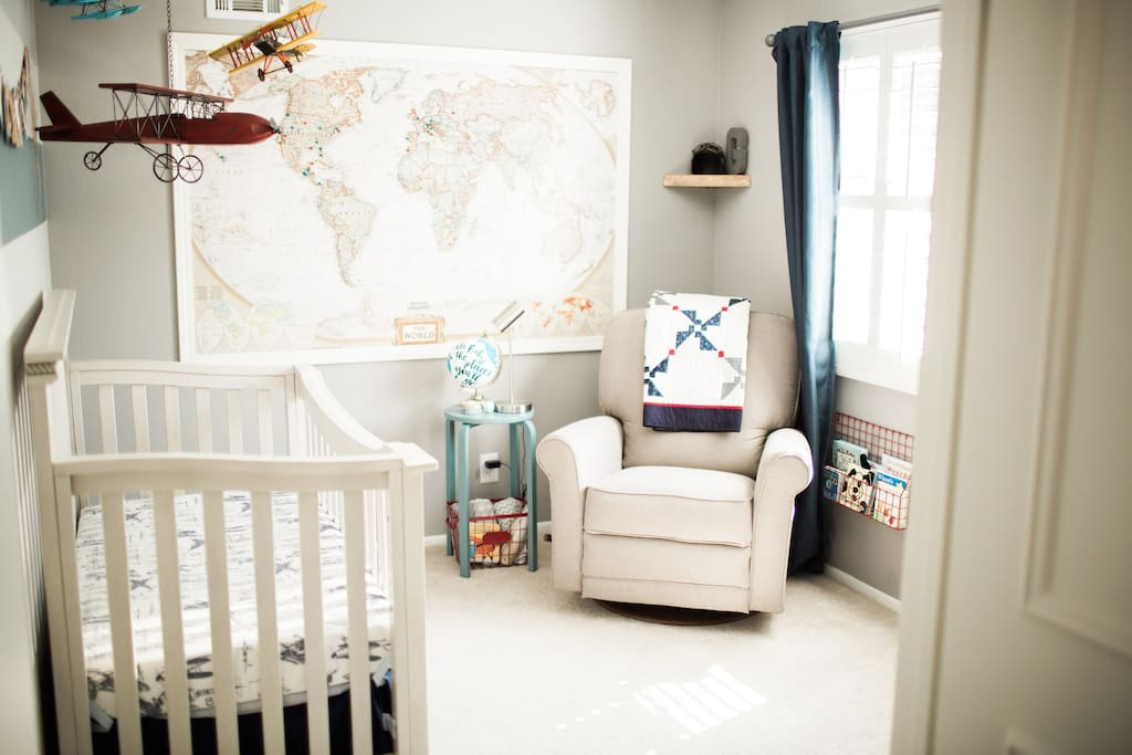 Nursery, conveniently located off of the master bedroom.  Includes changing table