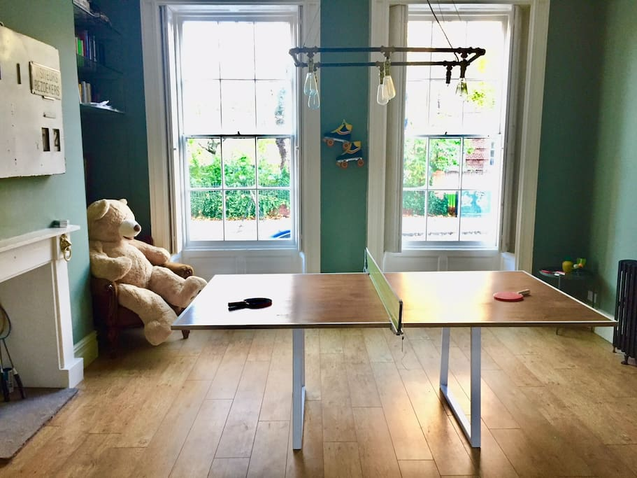 You're welcome to play table tennis or read a book and chill out in our front room.