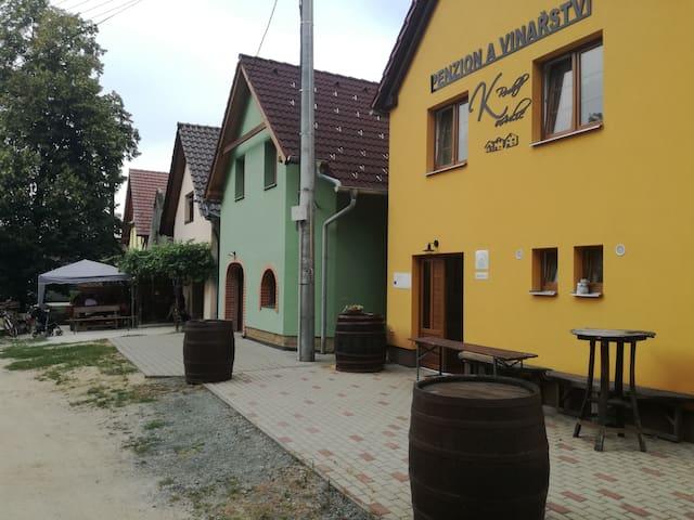 Ubytování v malém rodinném vinařství