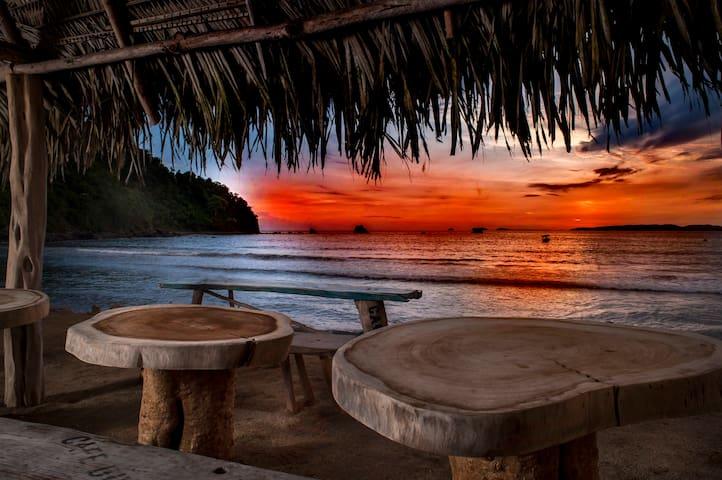 Crocodile Bar and Cabañas: On beach, cabin