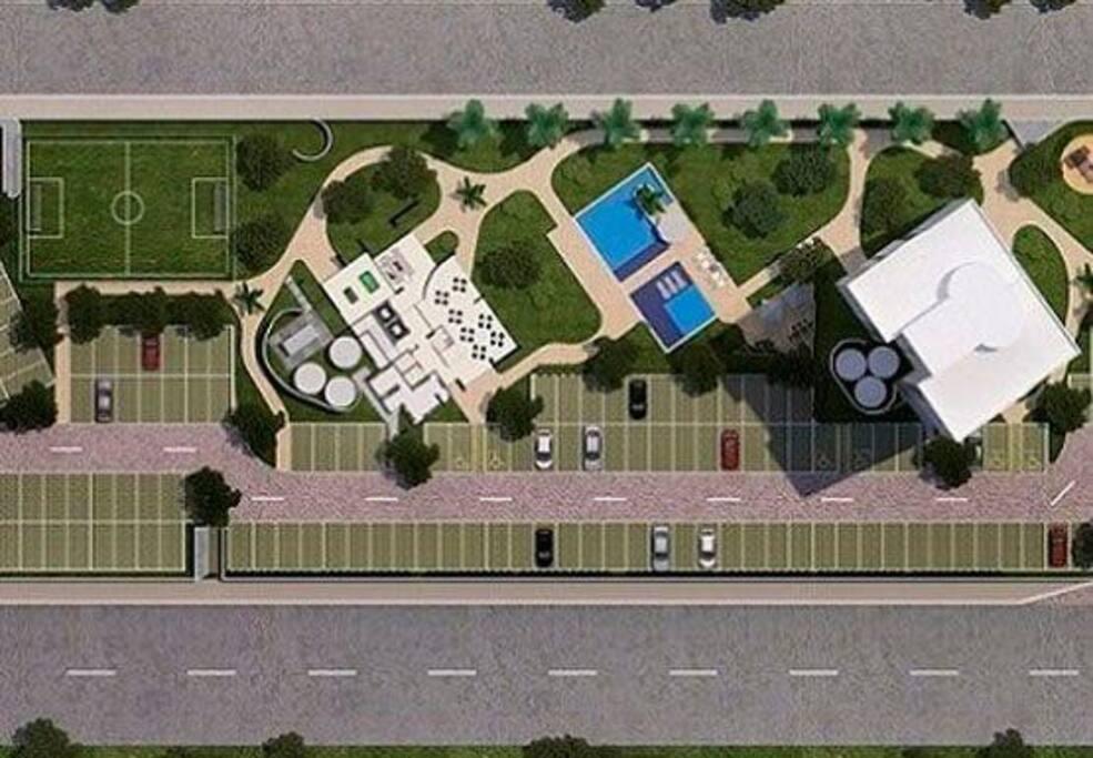 Visione Panoramica Condomínio Àurea Guedes + Parcheggio