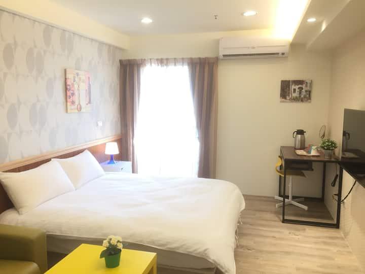 2C台中幸福森活草悟道Cozy Room(科博草悟道高樓景觀陽台房)