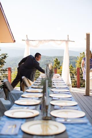 Nick & Sara Wedding Pinecliff Deck