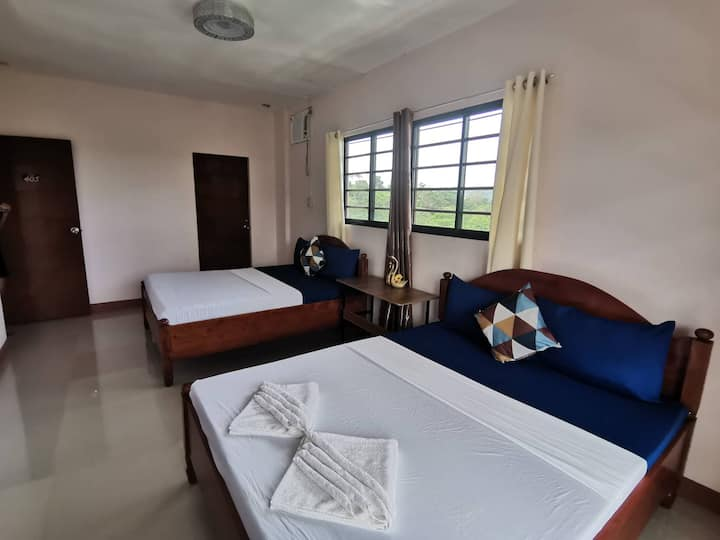 AC Room in Forest Moon Hostel Coron with TV & Wifi