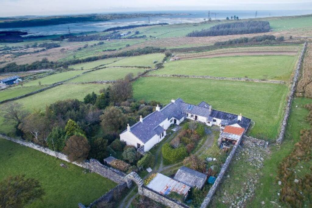 Bryn Hall is located in Snowdonia National Park, only 2 miles away from the A55 so ideal for exploring Anglesey, Snowdonia and all of North Wales.  Our location really is very special - incredibly peaceful yet very accessible.