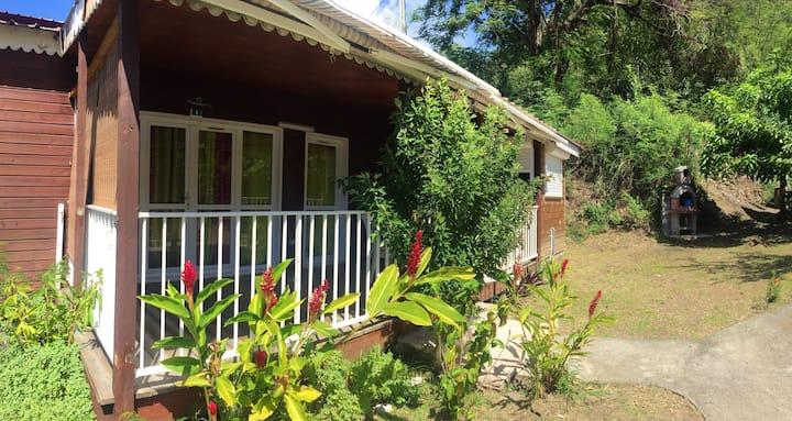 Bungalow with 2 bedrooms in Bouillante, with furnished terrace and WiFi - 100 m from the beach