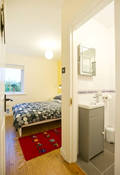 With easy access to your private bathroom!