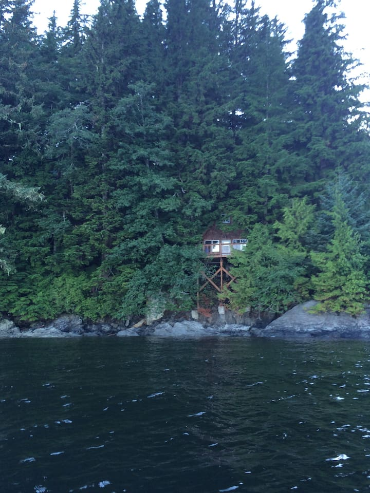 Cabin as seen from the water.