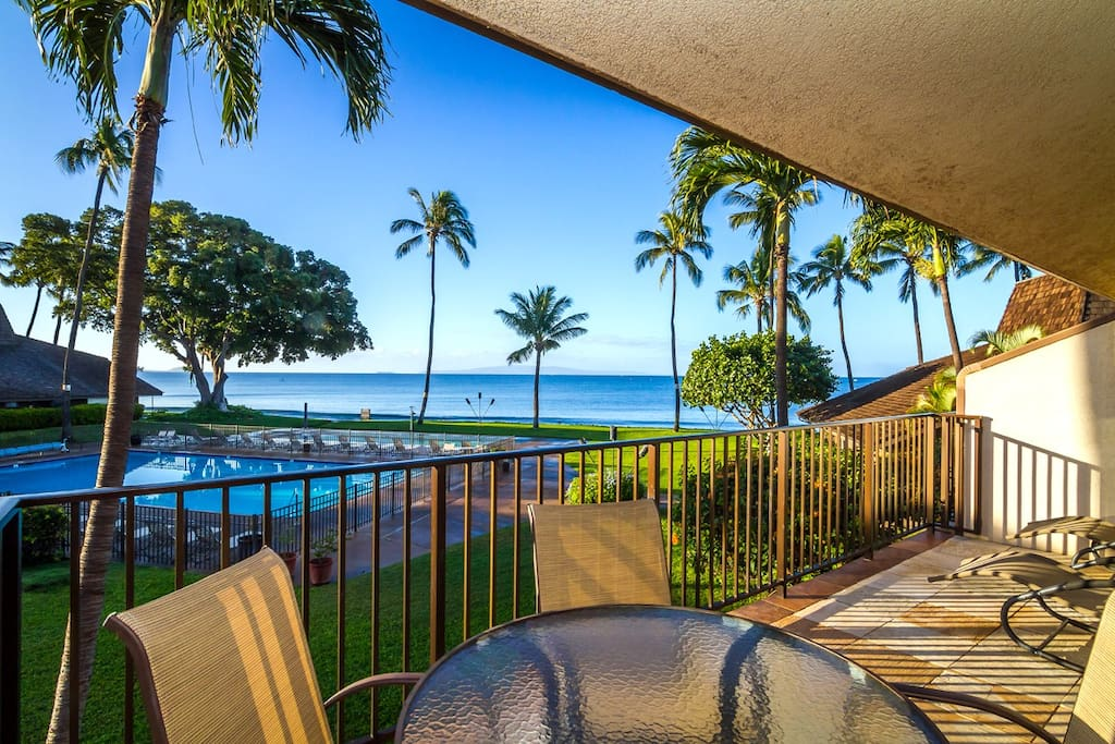 View from the large private lanai (G8).