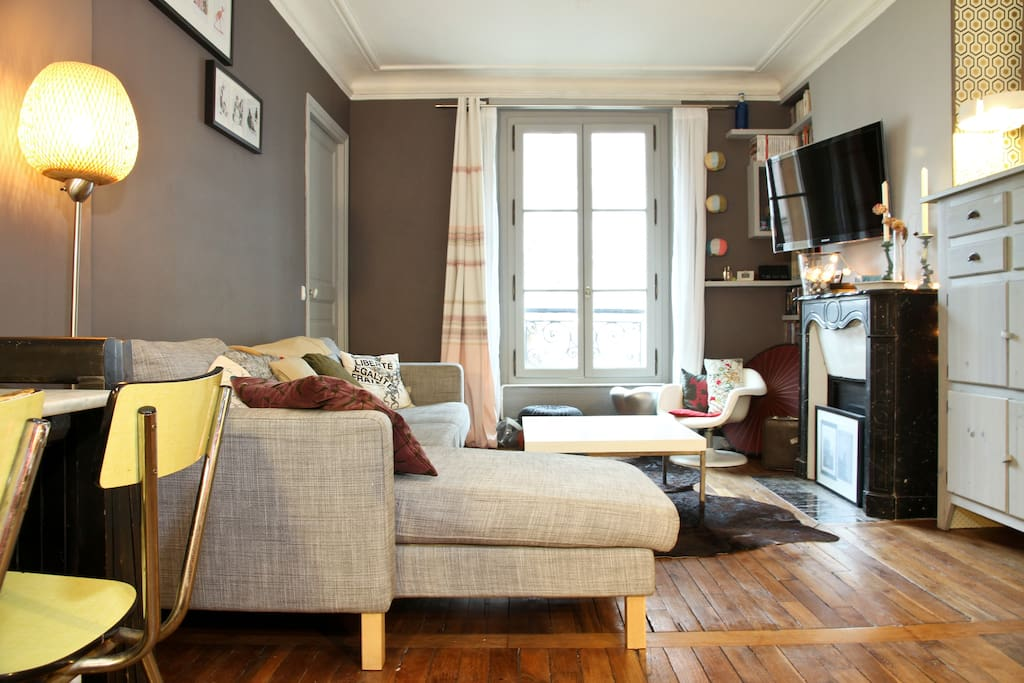 Montmartre opera design cozy 45m2 appartementen te for Appartement 45m2 design