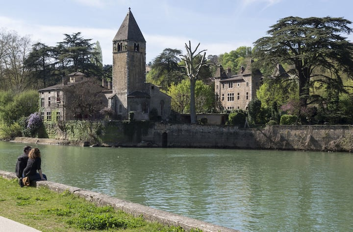 Charming Suite with View on Saône