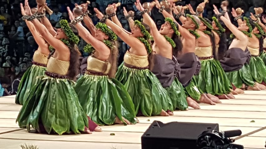 Merrie Monarch, April 12 to 18, 2020, is a large cultural Festival featuring hula competition and much more