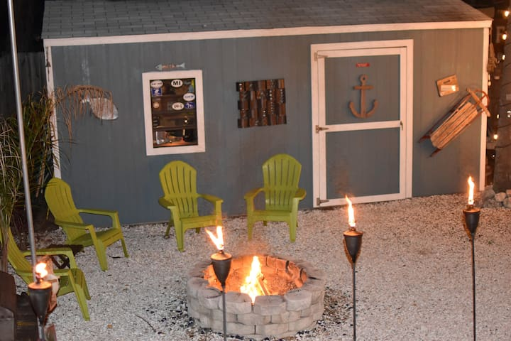 Enjoy a beverage by the firepit, we often do!