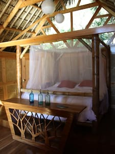 King size bed in bungalow suite