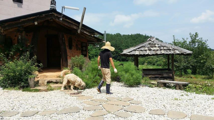 한국의 멋ᆞ휴양지  황토펜션 그리고 카페 ᆢ수리재 - Sedo-myeon, Buyeo - 別墅